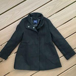 GAP KIDS girls black cotton fall coat 6 7 (A1)